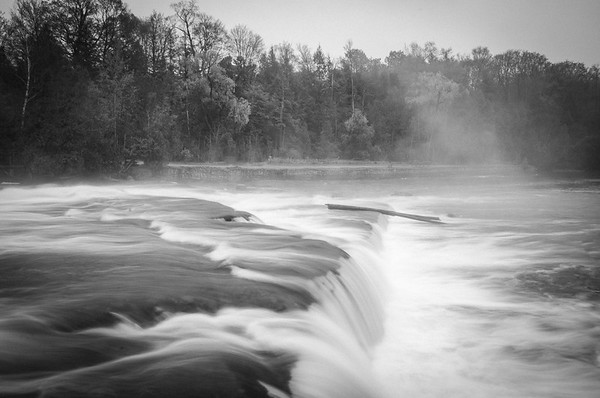 Sauble Falls in mist