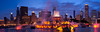 Buckingham Fountain panorama, Chicago.