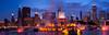Buckingham Fountain panorama, Chicago.