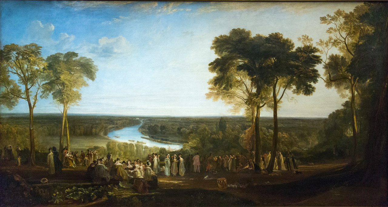 England: Richmond Hill, on the Prince Regent's birthday, exhibited 1819