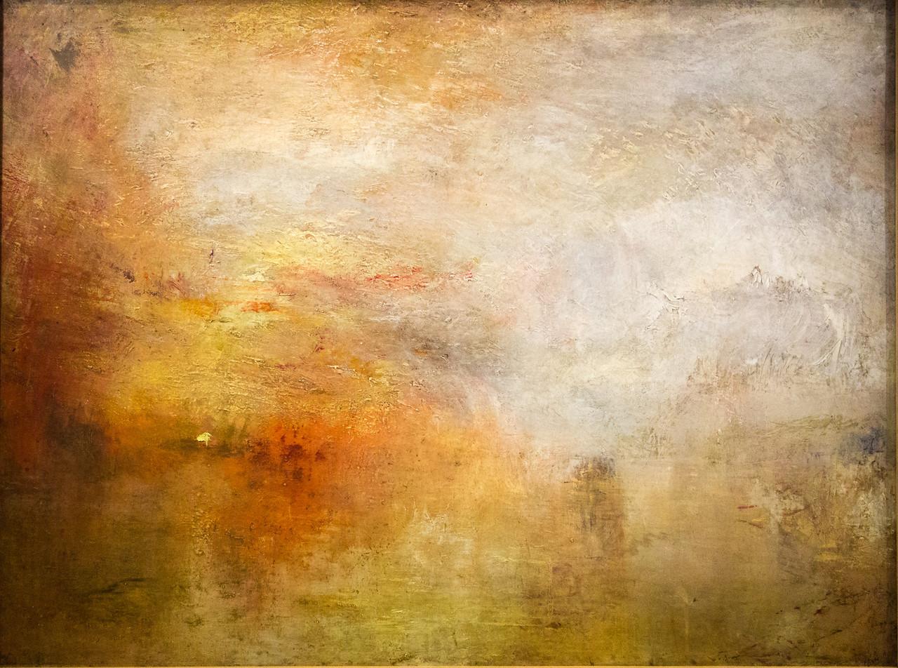 Sun Setting Over a lake, 1840-45