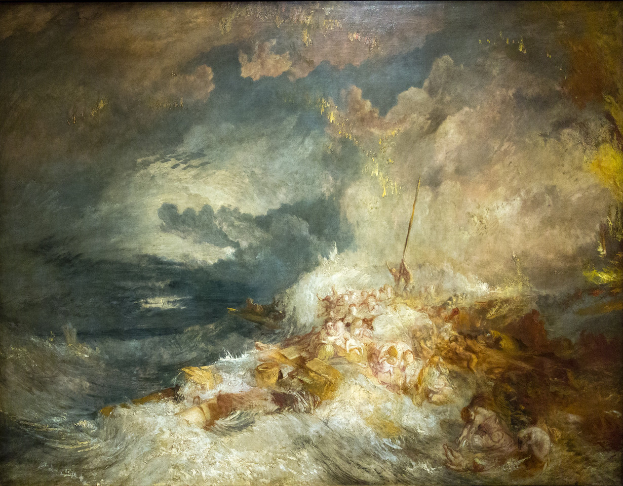 A disaster at Sea c 1835 also known as The Wrecked female convict ship, the Amphitre: Women and children abandoned in a gale
