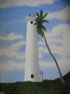 My Painting of Barbers Point Lighthouse