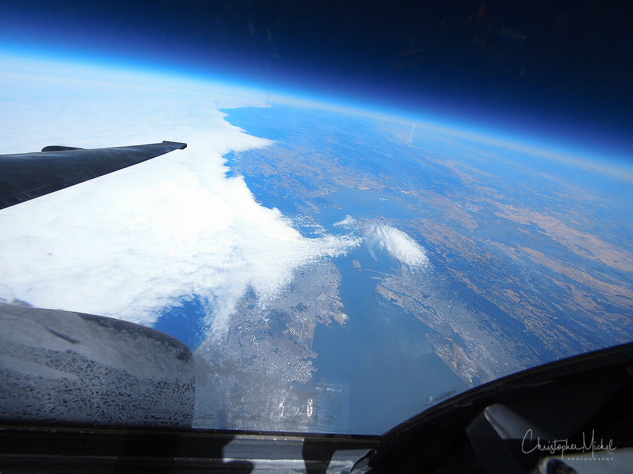 The U-2 above the Bay Area.