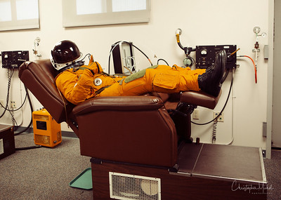 """Christopher Michel gives the """"thumbs up"""" as he prepares to go flying."""