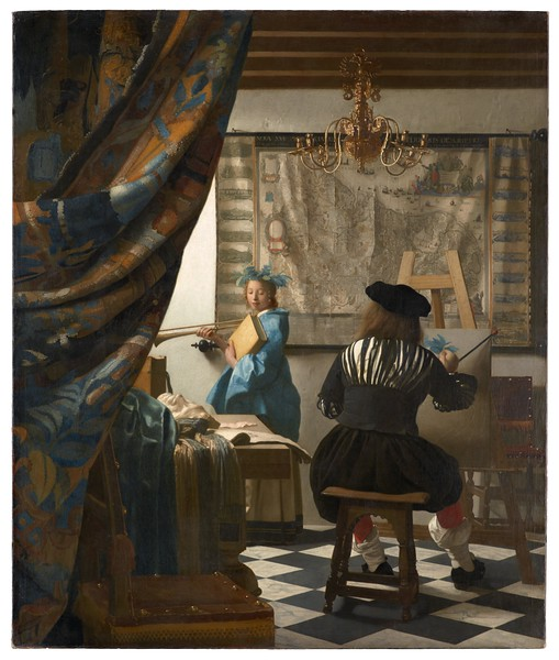 "The Art of Painting [Die Malkunst ] 1666-1668<br /> <a href=""https://www.khm.at/objektdb/detail/2574/"">https://www.khm.at/objektdb/detail/2574/</a>"