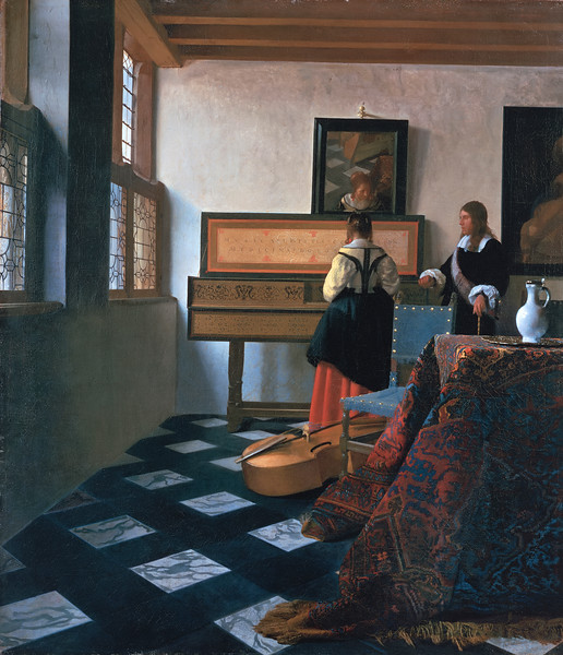 Lady at the Virginals with a Gentleman, by Johannes Vermeer