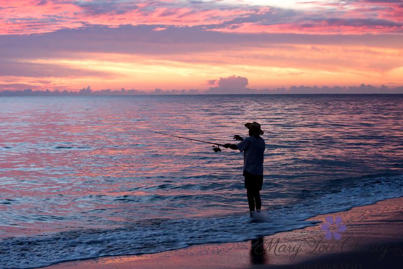 Sunrise Fishing 18 X 12 - original ratio