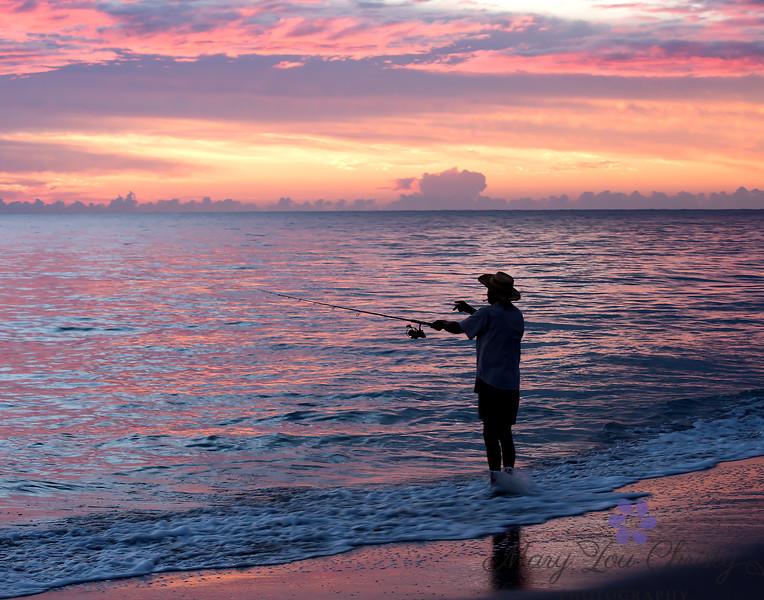 Sunrise Fishing 14X11