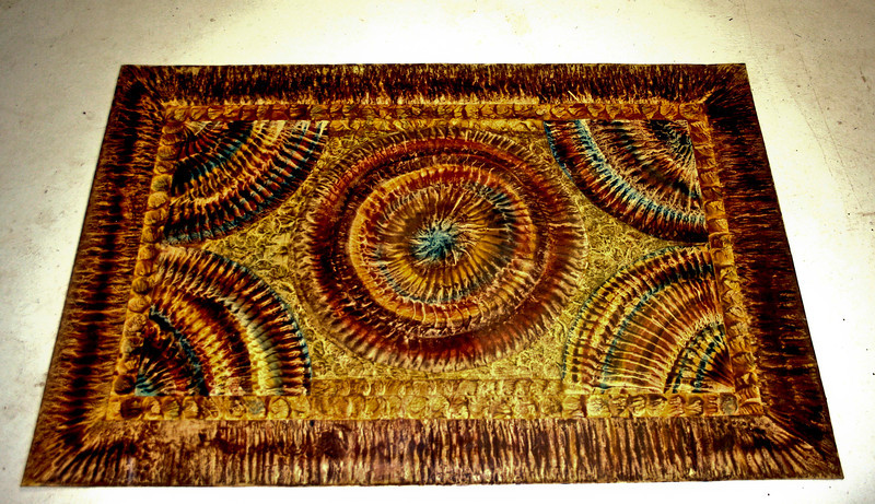 Floor cloth, this one is sold but I have others, 3.5' and smaller for table organizer