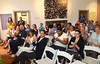Audience members applaud  at Visit Philly event at the Abington Arts Center.   Friday, June 20, 2014.  Photo by Geoff Patton