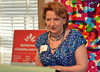 Deborra Pancoe, Jenkintown Council president, speaks at Visit Philadelphia event at the Abington Arts Center.   Friday, June 20, 2014.  Photo by Geoff Patton