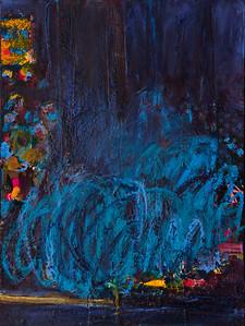 """Still, no. 2""; 24"" x 18""; oil & collage on canvas"
