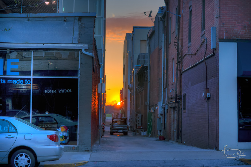 Sunset on alley A