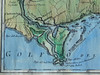 "Detail of the Mouth of the Mississippi River<br /> Golfo del Messico 1698<br /> Map Size:  13 x 18 inches <br /> <br /> This detail is available as a beautiful 5x7"" note card.  $4.95<br /> <br /> <br /> From the Arkansas River to the Gulf of Mexico (includes the Arkansas Post) and EAST to the northern coast of Florida. This ITALIAN map is one of our most detailed and most beautiful maps. <br /> <br /> TO ORDER OR INQUIRE, please phone 888-255-7726   <br /> Hand Painted:   $250.00"
