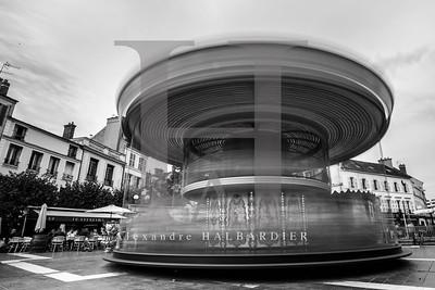 Carrousel Fontainebleau Seine et marne. / NIKON