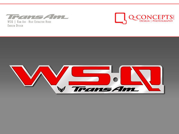 After the hood was put into production, I created an emblem for customers to apply to their vehicles should they decide to. It replaces the standard WS6 emblem on WS6 Trans Ams or fills in the space on standard model Firebirds and Trans Ams.  The badges can be ordered through www.EmblemPros.com.