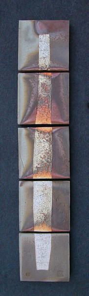 """Dimensions: 5 Pieces; W: 9.25""""; L: 9.25""""; D: 2.5""""<br /> Wall Hanging total height: 47.5'<br /> Title: Jacob's ladder"""