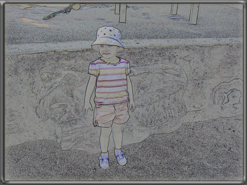 I used a photo I took of Olivia at Howarth Park. Photo was manipulated to give this art effect.