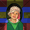 Photo of Olivia using stained glass effect. There are several other examples of stained glass in this gallery