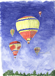 Air Balloons 9 x 12