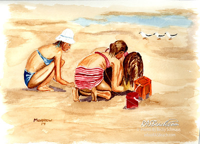 Girls on the beach.