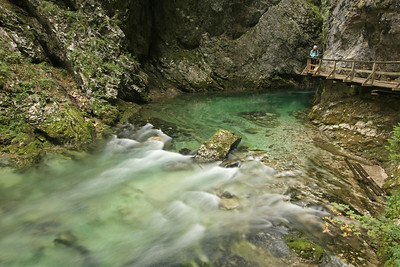 At Vintgar Gorge, Slovenia
