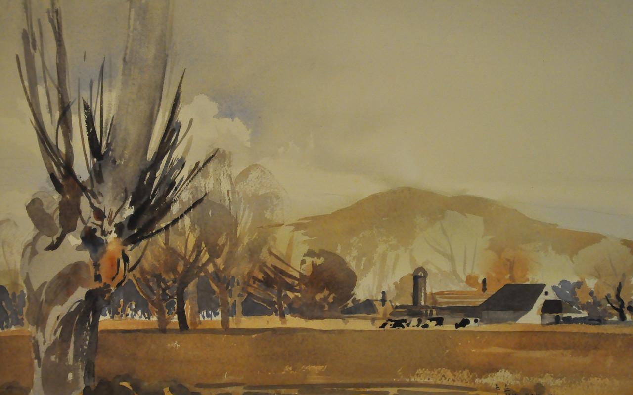 Roxbury Farm Watercolor 19X12.5