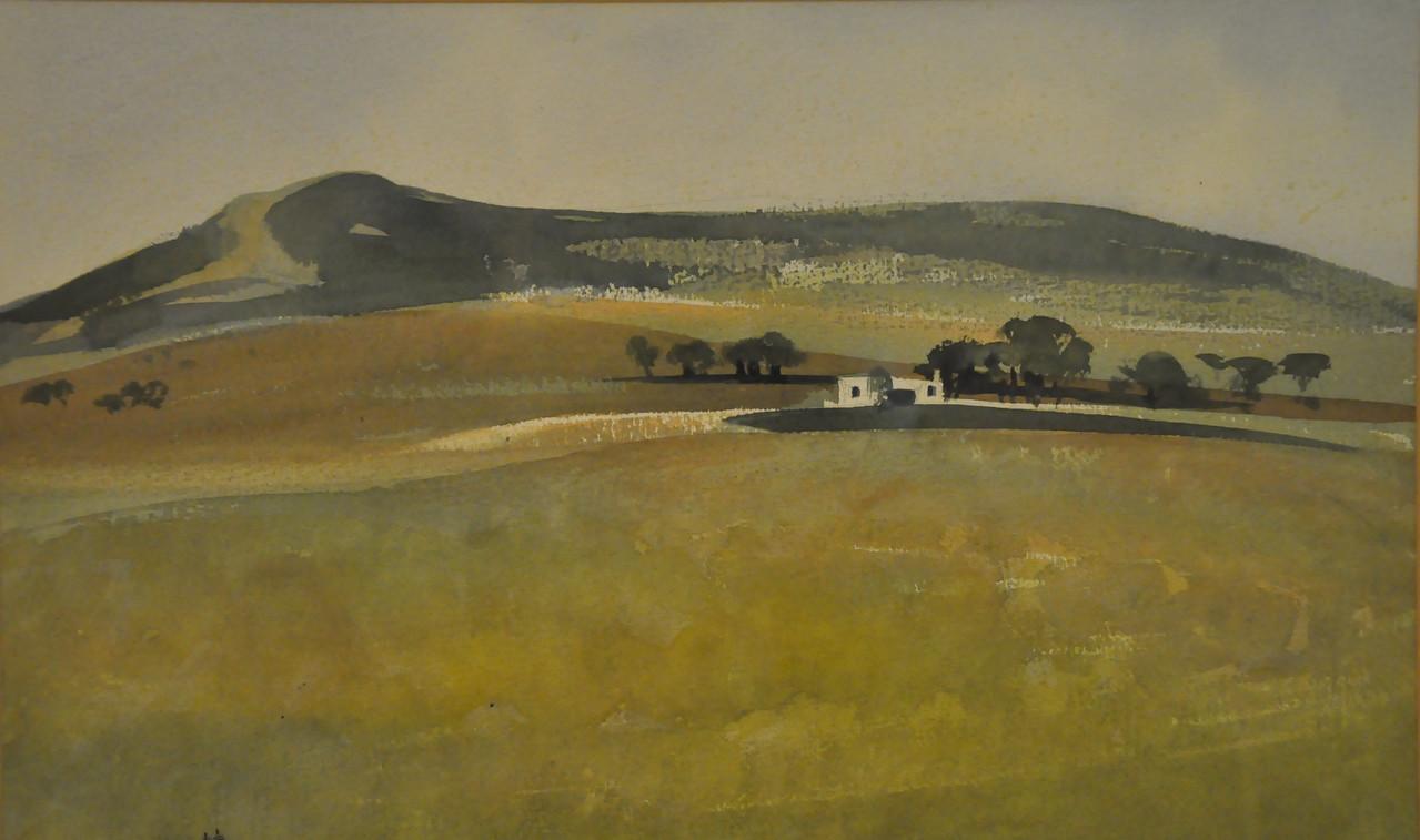 Simplicity in Western Landscape, Near Aspen Co. Watercolor 22X16 Ala prima, Plein aire