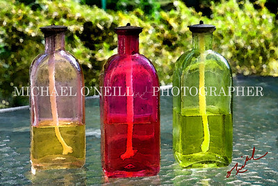 GLASS OIL LAMPS WC