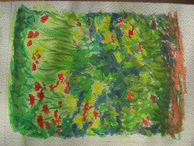 Flower garden, watercolor class, apr 7, 2012CIMG7016