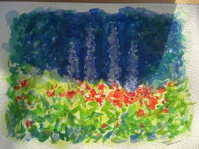 Flower garden, watercolor class, apr 7, 2012 CIMG7015