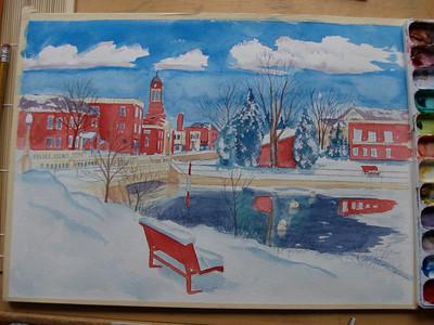 apr 23, 2012  Saranac Lake, and Lake Flower, Cristmas morning, 2009, watercolor, finished   HPIM0628