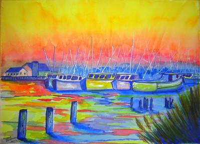 Shrimp boats, Bayou la Batre, Alabama, feb 1994, completed Jan 25, 2012