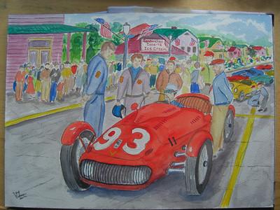 watercolor of 1952 Watkins Glen GP- finished, apr 8, 2012 CIMG7005