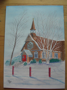 apr 17, 2012, painting of St Lukes Church  Cimg7093