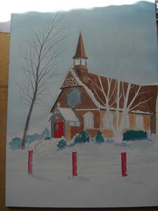 apr 13, 2012, painting of St Lukes Church  Cimg7026