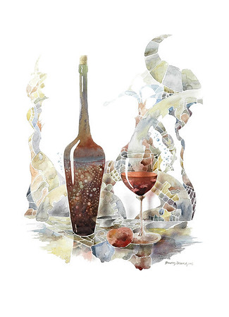 """Still life"" Watercolors/Pencil 22X30 Price: $ 1100.00 Unframed Limited Edition Print: $  270.00 Lustre/Unframed Limited Edition Print / Gallery Block (Finished edge) $ 375.00"