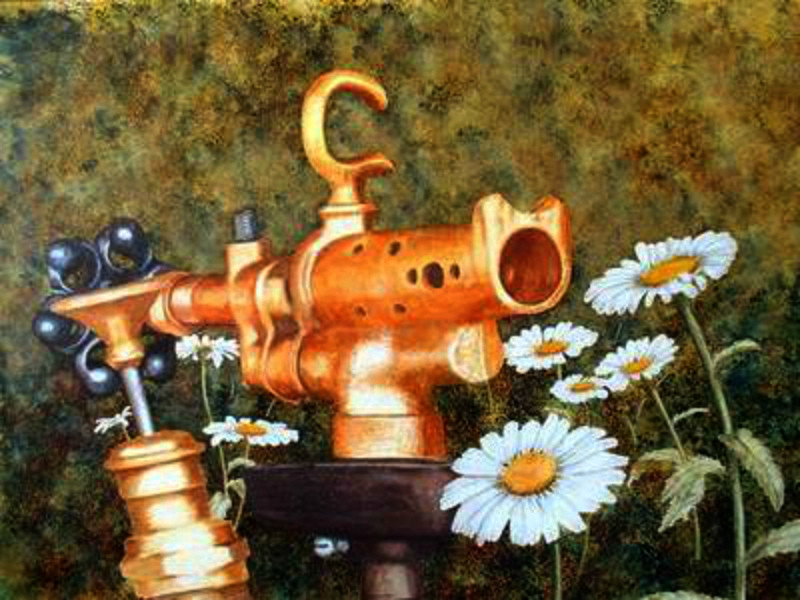Painting - Blow Torch and the Daisies