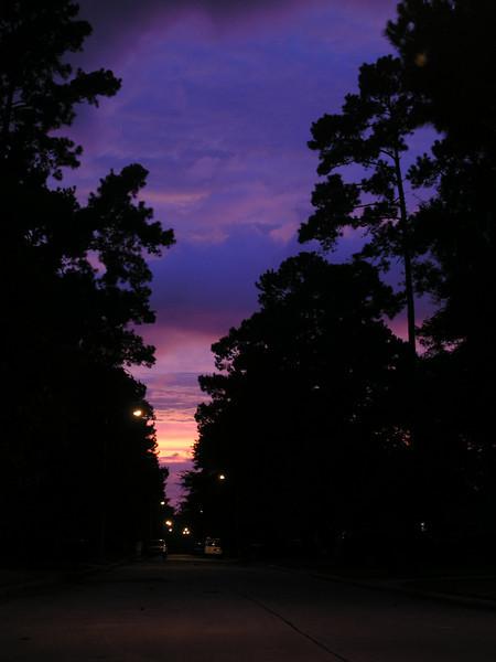 Sunset before Hurricane Ike