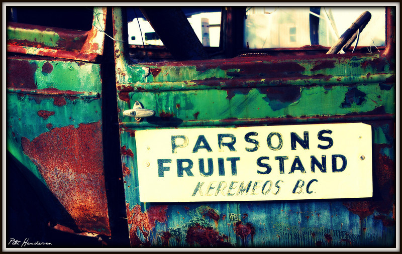 Eclectic Fruit Stand in the Okanagan.  Keremeos, BC
