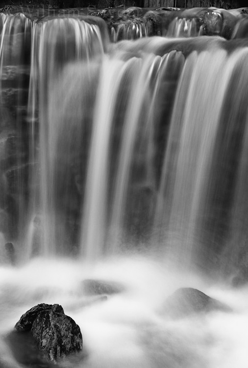 Waterfall B&W