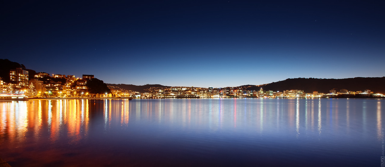 Wellington city from Oriental Parade