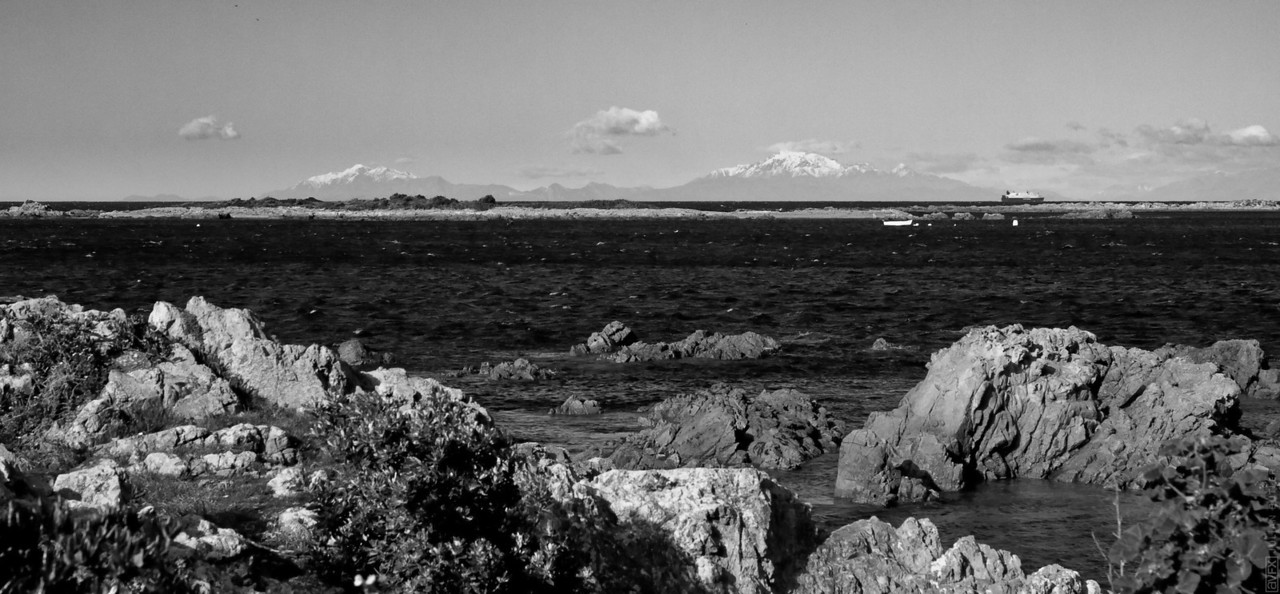 The Southern Alps from Island Bay