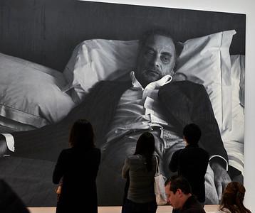 New York, New York - April 9, 2016 :  Whitney Museum Meatpacking Stingel Heizer et al Stingel  Credit: Robert Altman