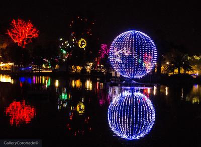 blue ball lights reflection 2131