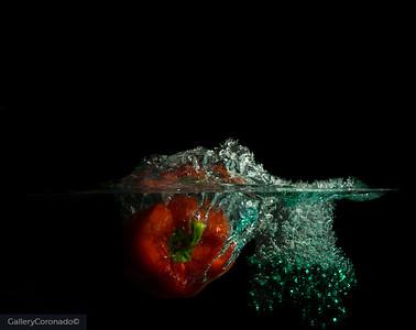 Red pepper green beads 2538