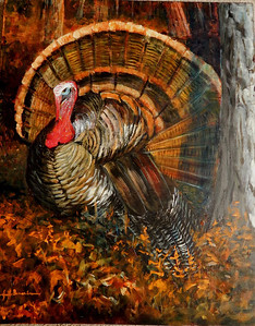 "Thanksgiving Strut 24""x30"" Acrylic on Linen Canvas"