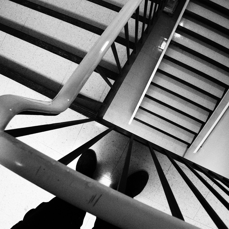 """Stairwell, with Feet""<br /> Image # EB01"