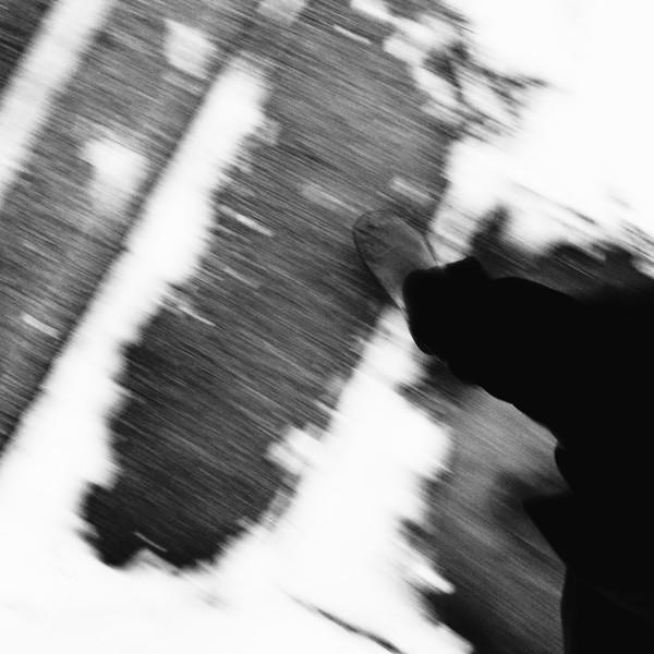 """""""Snowy Sidewalk, with Feet""""<br /> Image # EB05"""